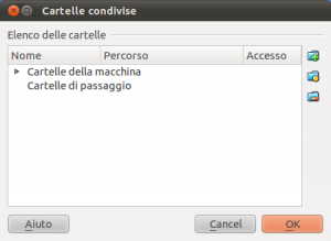 VirtualBox - Cartelle condivise