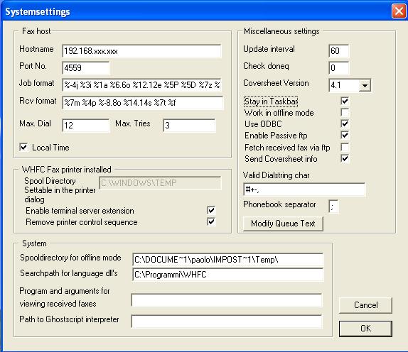 WHFC: Client HylaFax per Windows - Linux & Open Source