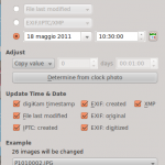 Digikam - Adjust time and date