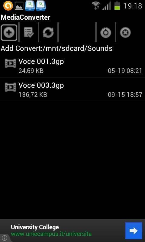 Android - 3ga to mp3
