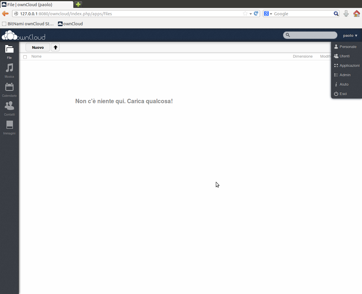 ownCloud home page