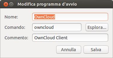 Ubuntu - applicazione avvio