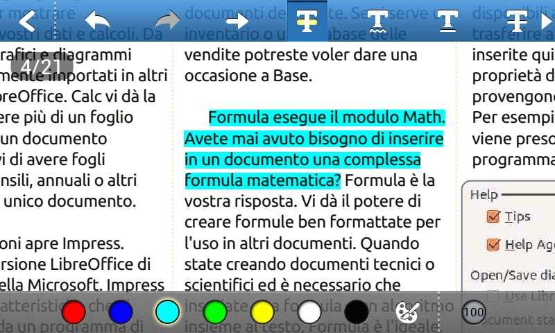 Foxit mobile PDF - Evidenziatore