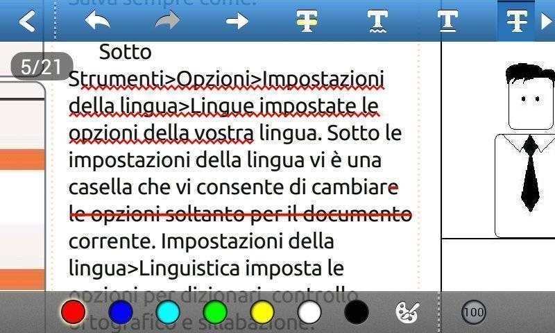 Foxit mobile PDF - Segnalazione e Barratura
