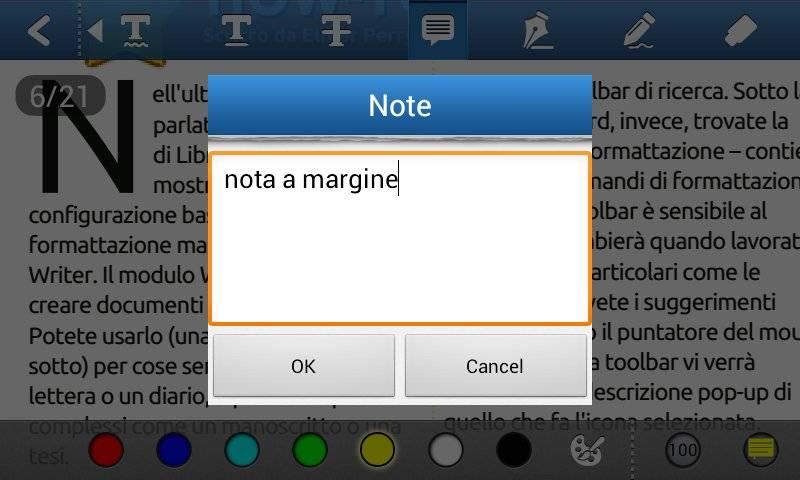 Foxit mobile PDF - Nota a Margine prima