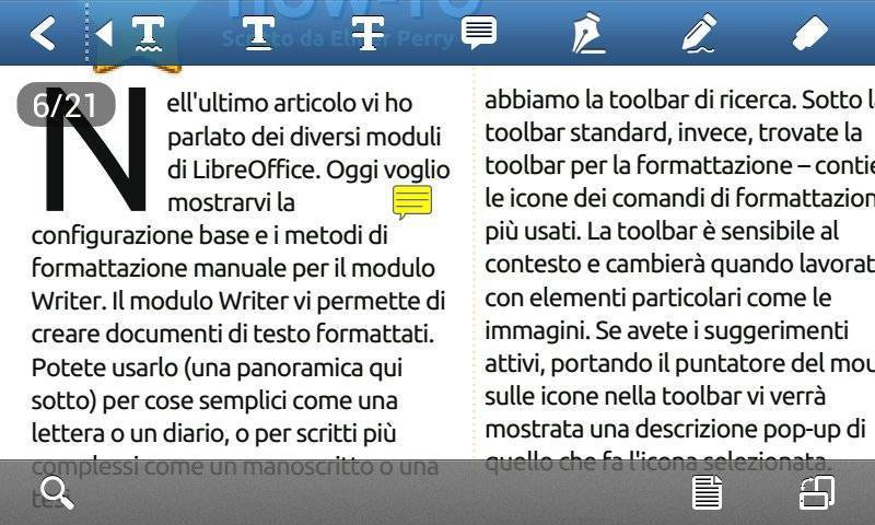 Foxit mobile PDF - Nota a Margine dopo