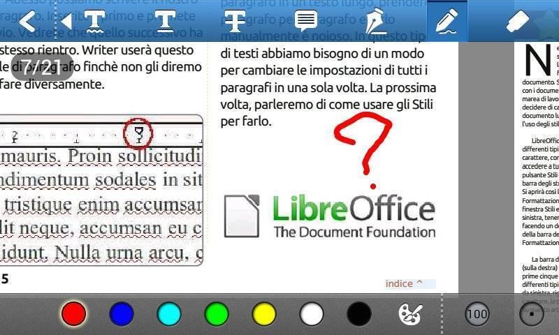 Foxit mobile PDF - Scrittura-Disegno mano libera