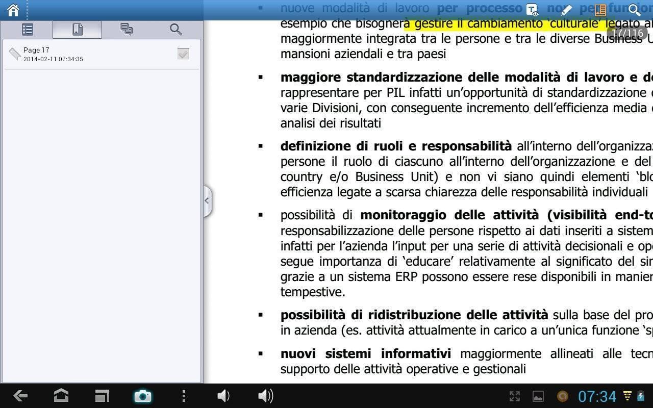 Foxit mobile PDF - Bookmarks-Segnalibri