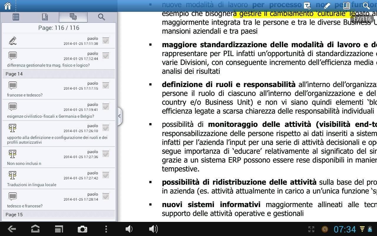 Foxit mobile PDF - Riepilogo Modifiche