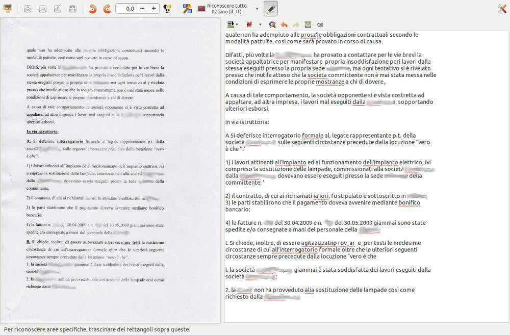 OCR per Linux GImageReader
