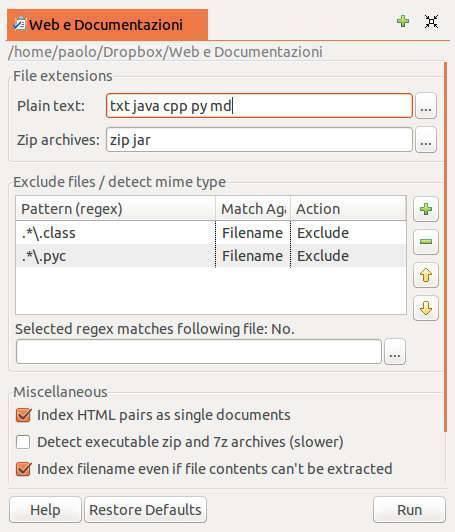 DocFetcher - cercare testo in documenti