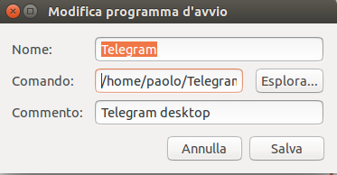 telegram all'avvio