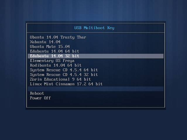 syslinux multiboot usb